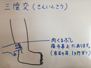 ◆血液循環を良くする三陰交◆